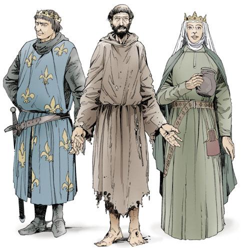 Святой Франциск Ассизский Святой Людовик Святая Елисавета